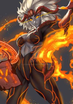 Halestorm-The Fire Mage Pro by UzumakiAry