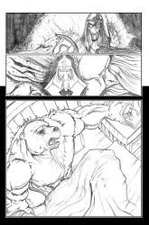 Ninja bear page 6 pencils by JasonGodwin