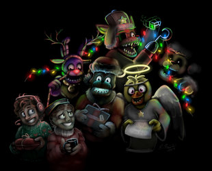 The Christmas night at Freddy's by Thyladactyl