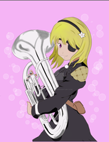 45O, the most Euphonium-est Gal in YoRHa by AshSparkleSketches