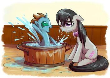 Bath time by Adlynh