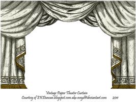 Pearl Paper Theater Curtain by EveyD