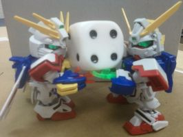 The World's Tiniest Gundam Duo by GriffithAzure