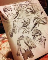 Character Design Sketch Sheet by animaddict