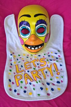 Toy Chica mask and Bib by AmandaFerguson070707