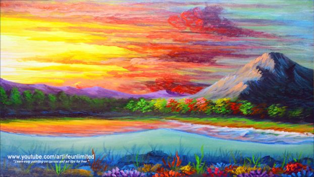 COLORFUL SEA CORALS DURING SUNSET by beejay-artlife12