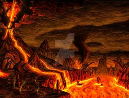 Magma mountain by priteeboy
