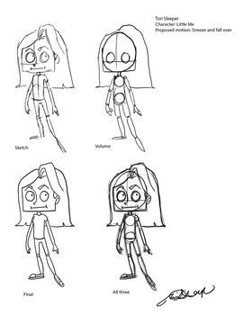 Little Me Character Design Chart v2 by Torsle