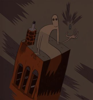 Rooftop Ghost by KillAllMonsters