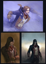 Assassin's Creed: sketches I by CavalierediSpade