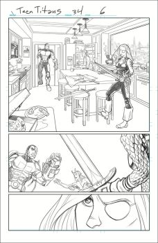 Teen Titans, Sample Art, Page 2 Pencils by Hominids