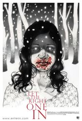 Let the right one in poster by Entenn
