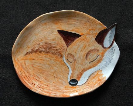Little Fox plate by Psydrache