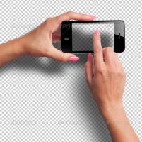 Female Hands with Smartphone Photorealistic Mockup by Ondrejvasak