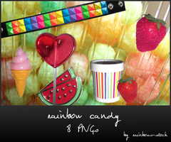 rainbow candy - png by rainbows-stock