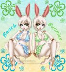 Twin Beach Bunnies by HaruShadows