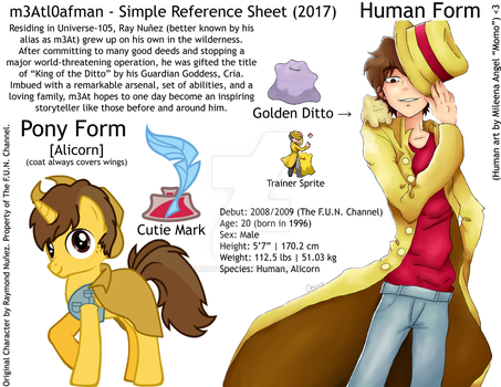 m3Atl0afman - Simple Reference Sheet (2017) by m3Atl0afman