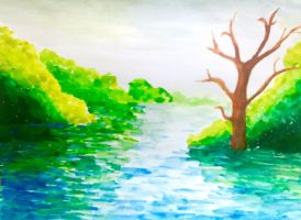 watercolor practice by DrawingLover626