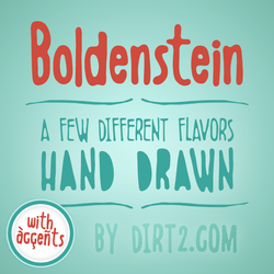 Boldenstein [4 Free Fonts] by Dirt2.com by KeepWaiting