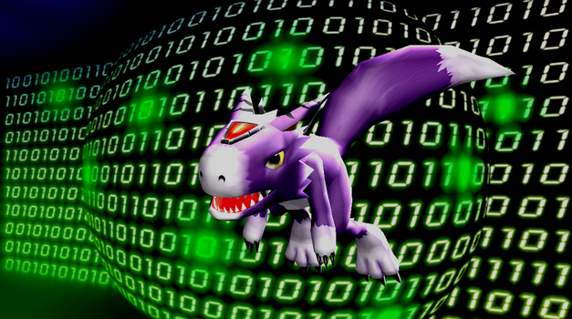 MMD Newcomer Dorumon + DL by Valforwing