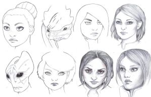 Mass Effect doodles 2 by Lorrain