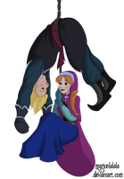 Anna and Kristoff by marionlalala