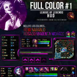 League of Legends PACK  - Full Color Hud's by AliceeMad