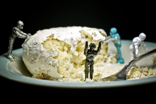 Robots Eating Cake by GwagDesigns