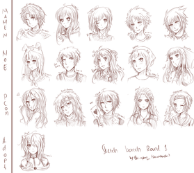 Sketch Batch Commision + Gift Round 1 by Shi-Nyann