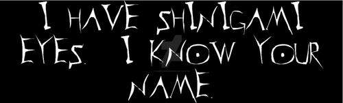 I Have Shinigami Eyes I Know Your Name Bumperstick by lawrencebrenner