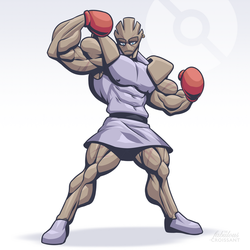 A wild Hitmonchan appeared by TheFabulousCroissant