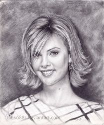 Charlize Theron drawing by TheKo88s