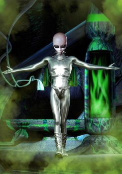 Grey Alien Exam Room by innovari