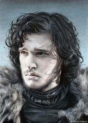 Jon Snow (drawing) by Quelchii