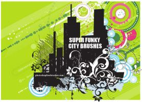 Funky City Skyline PS Brushes by fiftyfivepixels