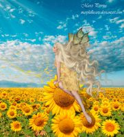 Sunflower Fairy by marphilhearts