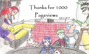 Thanks for 1000 Pageviews by Estell-chan