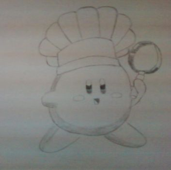 A drawing of kirby by on-repeat