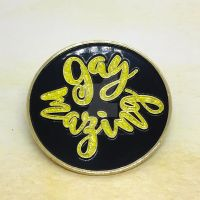 Gaymazing pin (with GLITTER!) by theevergreenburrow