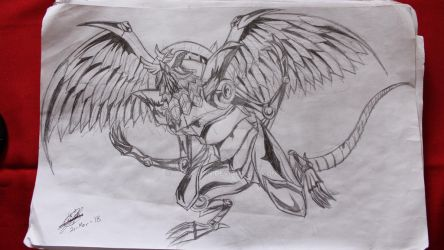 Winged Dragon of Ra (Pencil) by Himdolion