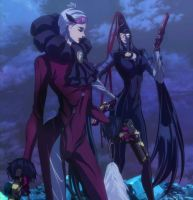 BloodyFate  Jeanne and Bayonetta by EvilMaybe
