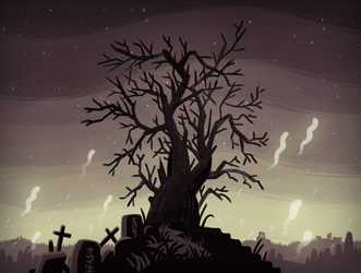 Spoopy Tree by kittyninjafish