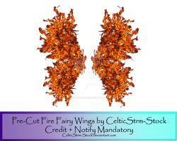 Fire Fairy Wings by CelticStrm-Stock by CelticStrm-Stock