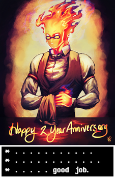 Happy 2 Year Anniversary Undertale!! by Dezby