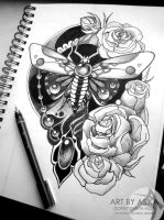 Tattoo sketch by AsikaArt