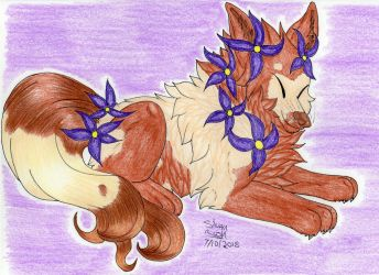 Art Trade: FoxieFlower 2/4 by Silvah-Rush