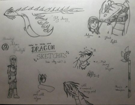 Dragon Sketches: Ras and Ghost by Aelyras