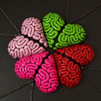 Brainbow of Brain Heart Necklaces by True-Crimeberry