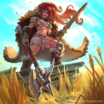 Red Sonja by JordanKerbow