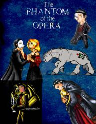 Phantom Of The Opera Badge Buddies by RegineSkrydon